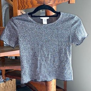 Urban Outfitters Sparkle Crop Top